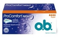 Тампоны O.B. procomfort night super, 16шт